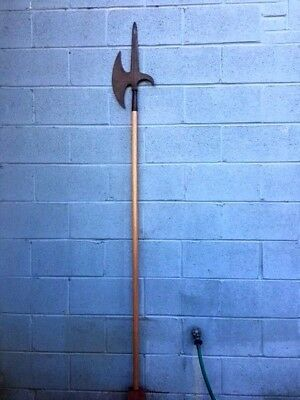 Big French Halberd Spear Axe Polearm for Wall Decoration  N sword rapier