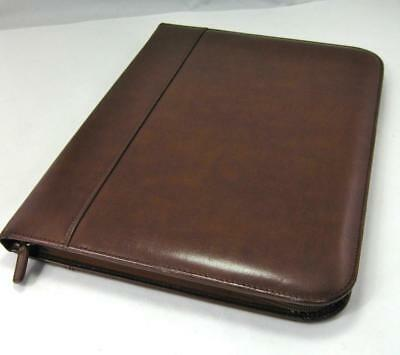 Deluxe Leather Legal Portfolio Zip Around - Thick Smooth Leather - Excellent