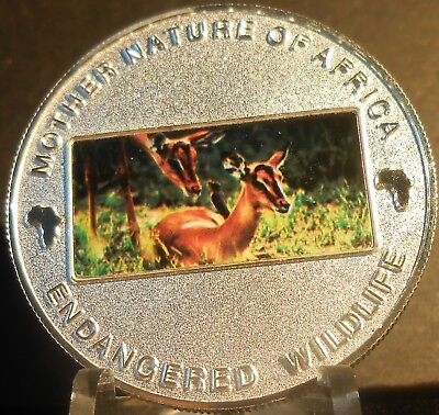 Malawi Mother Nature Of Africa Deer  2004  10 Kwacha Proof Color Crown