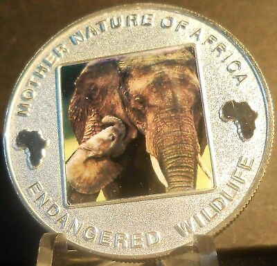 Malawi Mother Nature Of Africa Elephant  2004  10 Kwacha Proof Color Crown