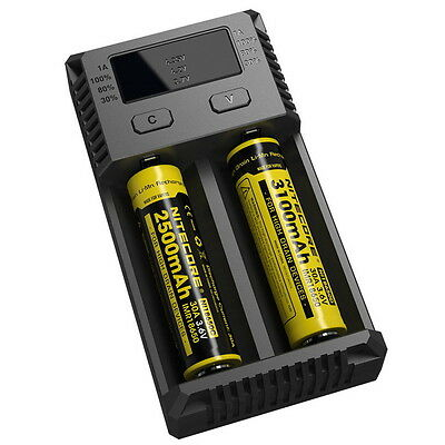 NiteCore New i2 2016 Intellicharger Battery Charger for 18650 RCR123 16340 14500