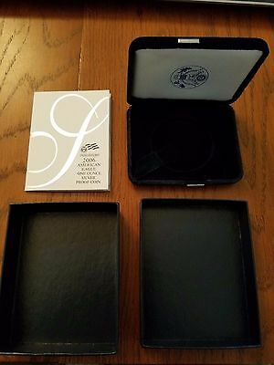 2006 American Eagle One Ounce Silver Proof Box And COA Only! No Coin