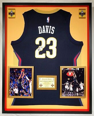 be820bf08e6 Premium Framed Anthony Davis Autographed New Orleans Pelicans Nike Jersey -  JSA