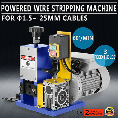 Portable Powered Electric Wire Stripping Machine 16.8-19.8M/Min 180W Copper Wire