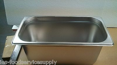 """(Lot Of 6) Third Size 6"""" Deep Stainless Steamtable Pans Hot Food Steam Table Pan"""
