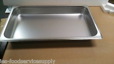 """(lot of 6) FULL SIZE 2"""" DEEP STAINLESS STEAM TABLE PANS FOOD PAN HOT TABLE 24 Ga"""