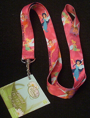 """Lot of 2 Disney Pin Trading Lanyard 18.5"""" Length Tink Tinkerbell Fairy Friends"""