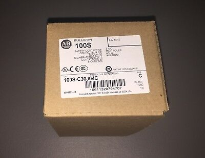 *new* Allen Bradley Guardmaster Safety Contactor 100S-C30J04C (30 Amp)