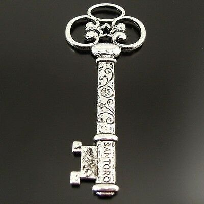 10//20//30 Pcs Small Antique Silver Skeleton Key Charms Pendant Vintage Jewelry