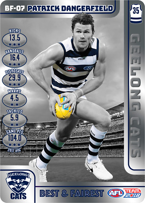 2018 Teamcoach Best And Fairest Geelong Patrick Dangerfield Bf07 Card Afl