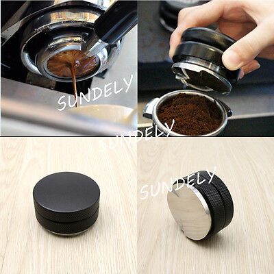 NEW Black 58mm Adjustable Smart Coffee Tamper  Base Three Angled Slope Flat Base