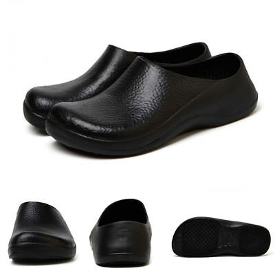 Mens Work Chef Shoes Kitchen Nonslip Safety Water Proof Slip On Catering Shoes