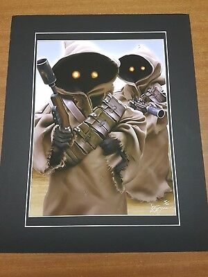Star Wars Limited Edition signed Jawa Print 15/100 By Gary Tymon