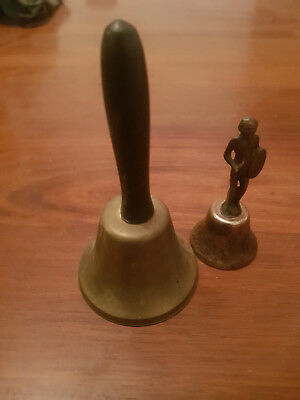 Hand Held Brass Bells  Handle X 2