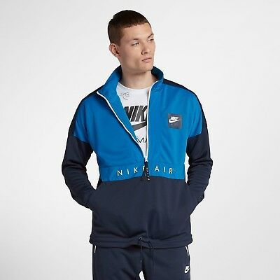 dbf60d887b906 Nike NSW Air Half Zip Top NEW men 918324-465 blue nebula obsidian white
