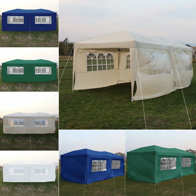 3x6m Garden Gazebo Marquee EXTRA Large PopUp Market Stall Zipper Rope Party Tent