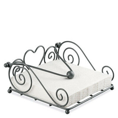 Ambiente Rustical Napkin Holder, Grey Dispenser Tray Modern Stylish Home Decor