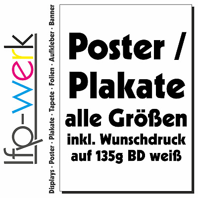 Plakat & Poster 135g/m² inkl. 6-Farb-Latex-Digitaldruck