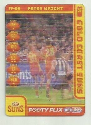 2018 TEAMCOACH FOOTY FLIX GOLD COAST SUNS PETER WRIGHT FF08 CARD afl