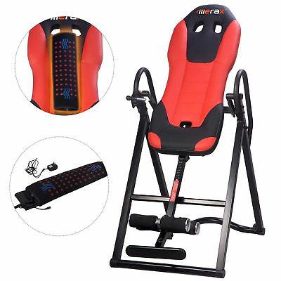 Merax 330lb heated massage Pad Inversion Table Fitness Back Pain ache Relief