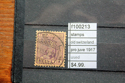 Stamps Old Switzerland Pro Juve 1917 Used (F100213)