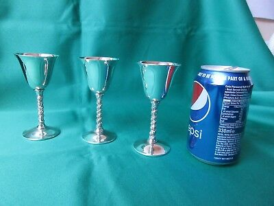 Falstaff Silver Plated Vintage Sherry Goblet set of 3