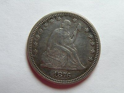 1876 Seated Liberty Quarter - Extremely Fine