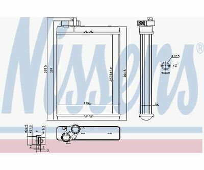Heat Exchanger, Interior Heating Nissens 70231