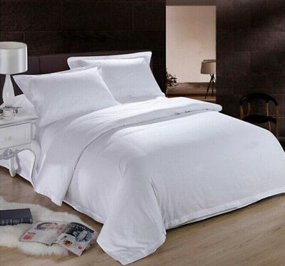 Hilton Hotel Grade Pure Cotton Doona Quilt Cover Double Queen King Bed White