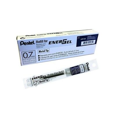 12 pcs Pentel Energel  Refill 0.7mm Navy Blue  color Metal Tip one dozen in box