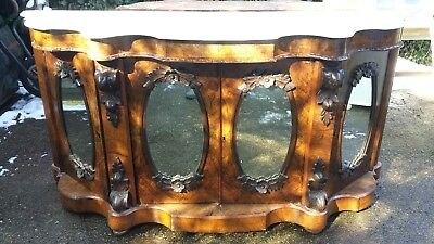 Antique Walnut Credenza with Marble top