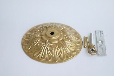 """New Unfinished  Solid Cast Brass Canopy 5-7/8"""" For Brass Chandelier  Low Ceiling"""