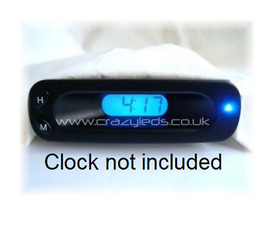 Ford Fiesta Puma Transit Blue LED dash clock conversion kit