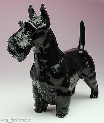 Black Scottish Terrier Scottie Porcelain Dog Figurine New Reproduction Japan