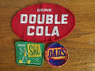 3 Vintage Soda Patches