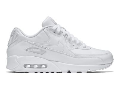 Nike Air Max 90 Leather Herren Sneaker weiß 302519 113