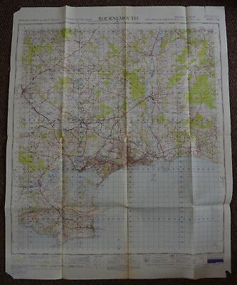 Map of Bournemouth War Office 1951 Sheet 179