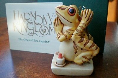 Harmony Kingdom Soul Mate V2 Yoga Practicing Yellow Frog UK Made LE 100 NEW