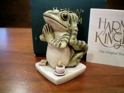 Harmony Kingdom Soul Mate V1 Frog Yoga Marble Resin Box Figurine UK Made NIB