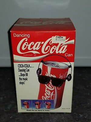 Coca-Cola Collectibles Dancing Can vintage 80s BRAND NEW responds to sounds COKE