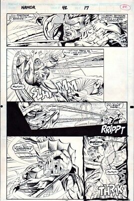Namor the Sub-Mariner #42 p 17, M.C. Wyman, Action, Avengers, Marvel, 1993!