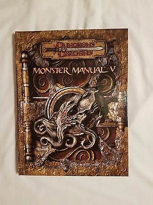 BRAND NEW COPY!  D&D Monster Manual V 5 Dungeons & Dragons 3.0/ 3.5 Edition WOTC