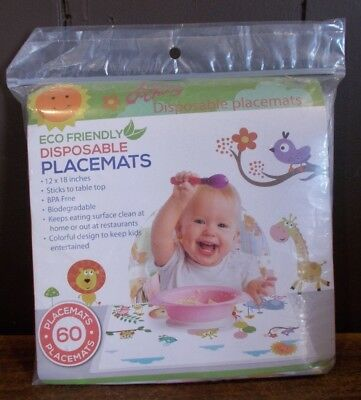 Little Oochoos Eco Friendly Disposable Placemats 60 Count
