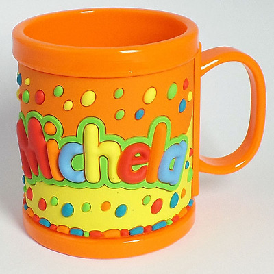 Tazza di Plastica My Name Personalizzata con Nome in Rilievo -Michela- Clearco