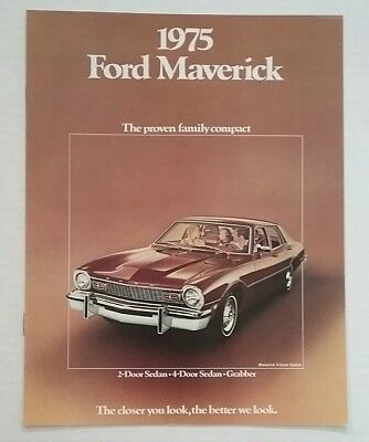 Shipping A Car/page/2 >> Vintage 1975 Ford Maverick 8 Page Car Auto Sales Brochure