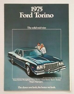 Vintage 1975 Ford Torino 10 Page Car Auto Sales Brochure Free Shipping