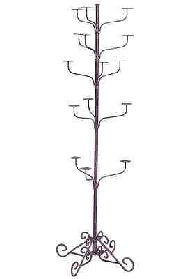 Hat Display Rack Boutique 5-Tier Millinery Floor Stand Custom Lavender Purple