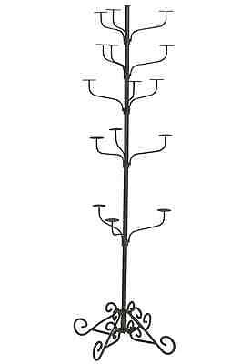 Hat Display Rack Boutique 5-Tier Millinery Floor Stand Silver Vein