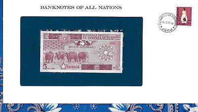 Banknotes of All Nations Somalia 1983 5 Shillings P31a UNC D007 FANCY 969666