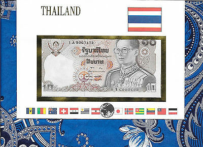 E Banknotes of All Nations Thailand 1980 10 Baht  P87a.6  UNC sign 57